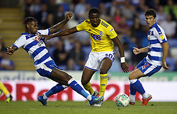 Birmingham City's Beryly Lubala and Reading's Leandro Bacuna battle for the ball