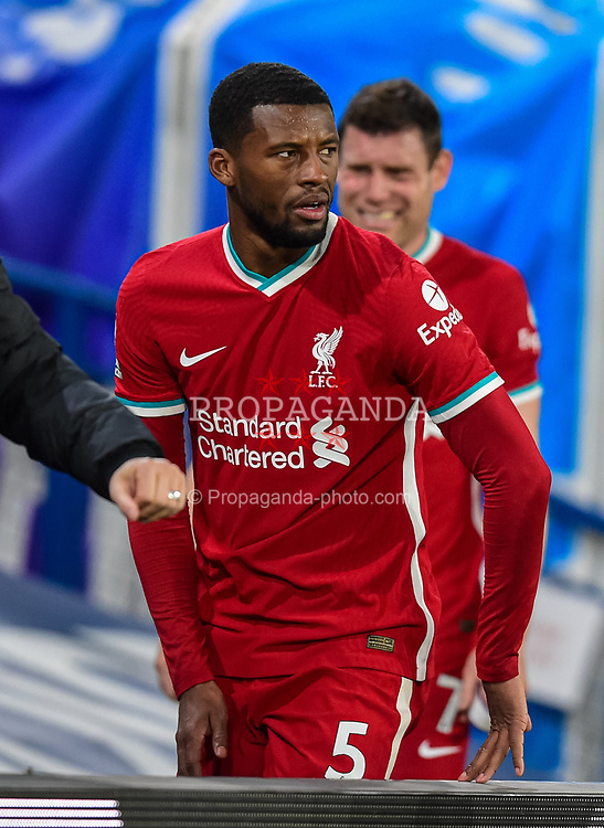 LEEDS, ENGLAND - Monday, April 19, 2021: Liverpool's Georginio Wijnaldum after the FA Premier League match between Leeds United FC and Liverpool FC at Elland Road. The game ended in a 1-1 draw. (Pic by Propaganda)