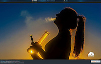 "Blaine Harrington III's image used as a opening shot of CNBC's documentary ""Marijuana Country: The Cannabis Boom"". Shot in Colorado."