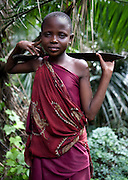 Masai child in the forest the Ngorongoro Conservation Area or NCA is a conservation area situated 180 km west of Arusha in the Crater Highlands area of Tanzania.