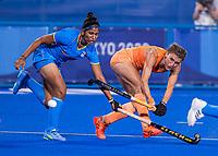 TOKIO -  Maria Verschoor (NED)  tijdens de wedstrijd dames , Nederland-India (5-1) tijdens de Olympische Spelen   .   COPYRIGHT KOEN SUYK