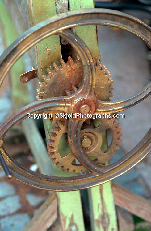 Abstract crank and gears.  Sopot Poland