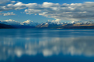 Oceania; New Zealand; Aotearoa; South Island; Canterbury, Southern Alps, Lake Pukaki, Mount Cook