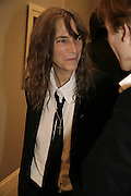 PATTI SMITH , Photos by Robert Mapplethorpe: Still Moving & Lady, Alison Jacques Gallery, 4 Clifford Street, London, W1, Dinner afterwards at the  The Dorchester with performance by Patti Smith, 7 September 2006.  ONE TIME USE ONLY - DO NOT ARCHIVE  © Copyright Photograph by Dafydd Jones 66 Stockwell Park Rd. London SW9 0DA Tel 020 7733 0108 www.dafjones.com