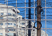 Bucharest telephone cable and reflections