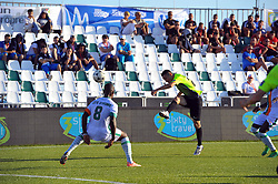 October 9, 2017 - Nabeul, Tunisia - Zhumabebekov Kanat(20) of Kazakhstan in action during the second day of the group stage of the WMF World of Mini Foot 2017, played in Nabeul (60km south of Tunis) between Kazakhstan and the Ivory coast. (Credit Image: © Chokri Mahjoub via ZUMA Wire)