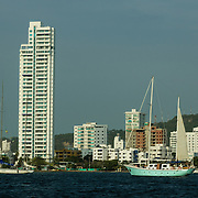 Modern and luxurious Bocagrande, the new growth of Cartagena, Colombia.