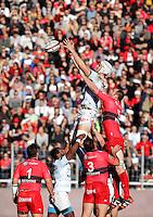 Luke CHARTERIS / Ali WILLIAMS - 10.01.2015 - Toulon / Racing Metro - 16e journee Top 14<br />Photo : Jc Magnenet / Icon Sport