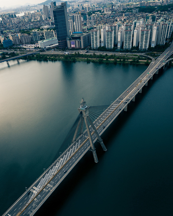 Olympic Bridge across the Han River. Seoul, Korea
