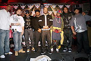 Cool, Dre, Q-Tip, Sway, Common, Just Blaze, KRS-ONE and DJ Premier at The Smirnoff Press Conference announcing Music Series held at Element on February 26, 2008