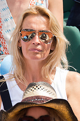 Estelle Lefebure in stands during French Tennis Open at Roland-Garros arena on June 08, 2018 in Paris, France. Photo by Nasser Berzane/ABACAPRESS.COM