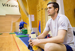 Gregor Ropret during training camp of Slovenian Volleyball Men Team 1 month before FIVB Volleyball World League tournament in Ljubljana, on May 5, 2016 in Arena Vitranc, Kranjska Gora, Slovenia. Photo by Vid Ponikvar / Sportida