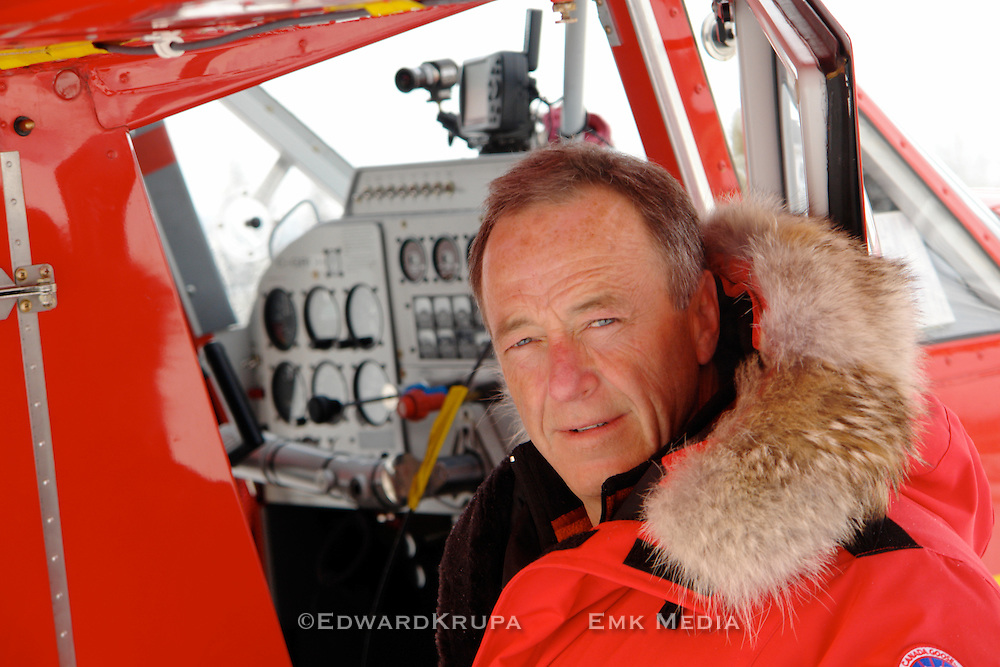 Host Barry Kennedy of the Discovery Channel series Out in the Cold, in the Yukon.