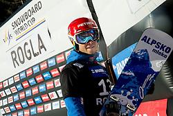 Zan Kosir (SLO) posing during Qualification Run in Men's Parallel Giant Slalom of FIS Snowboard World Cup Rogla 2017, on January 28, 2017 at Course Jasa, Rogla, Slovenia. Photo by Vid Ponikvar / Sportida