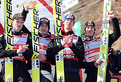 Planica at FIS Ski jumping World Cup finals in Planica, Slovenia.  Team event of FIS Ski jumping World cup were held in Planica, Slovenia, on K215 ski flying hill on March 15, 2008. (Photo by Vid Ponikvar / Sportal Images)./ Sportida)