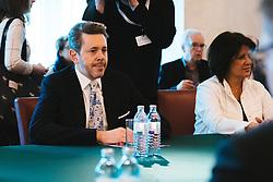 04.03.2020, Bundeskanzleramt, Wien, AUT, Austausch der Bundesregierung mit den Sozialpartnern zum Coronavirus, im Bild Harald Mahrer (OeVP)// during press conference after an exchange of the federal government with the social partners on the corona virus at the federal chancellery in Vienna, Austria on 2020/03/04. EXPA Pictures © 2020, PhotoCredit: EXPA/ Florian Schroetter