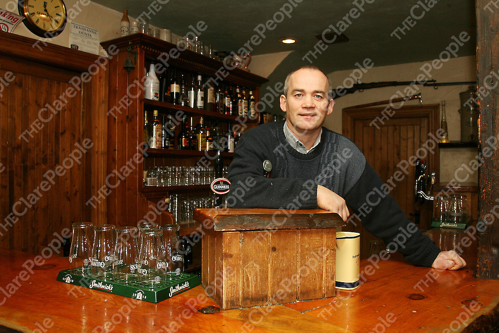 Robert Cassidy owner of Cassidy's Pub in Carron.<br /><br /><br /><br />Photograph by Yvonne Vaughan.