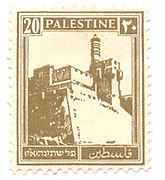 Palestine (British Mandate) pre 1948 stamp King David's citadel, Jerusalem