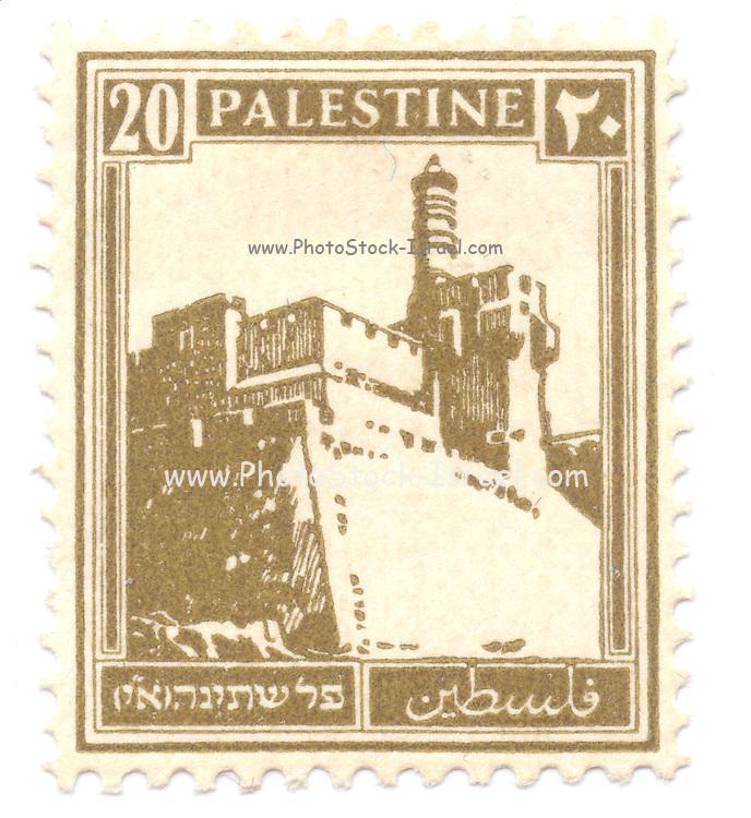 Palestine (British Mandate) pre 1948 stamp King David's citadel, Jerusalem