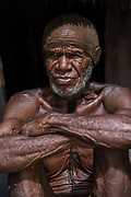 Dani tribe man (Abitmo)<br /> Budaya village<br /> Suroba<br /> Trikora Mountains<br /> West Papua<br /> Indonesia