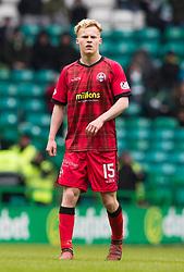 Morton's Scott Tiffoney  during the William Hill Scottish Cup, Quarter Final match at Celtic Park, Glasgow.