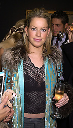 MISS CAROLINE STANBURY a friend of the Duke of York, at a party in London on 7th November 2000.OIT 70
