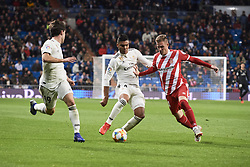 January 24, 2019 - Madrid, Spain - Alvaro Odriozola (midfielder; Real Madrid), Casemiro (midfielder; Real Madrid) in action during Copa del Rey, Quarter Final match between Real Madrid and Girona FC at Santiago Bernabeu Stadium on January 24, 2019 in Madrid, Spain (Credit Image: © Jack Abuin/ZUMA Wire)
