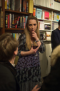 DAISY DE VILLENEUVE, Book launch for 'I Should Have Said' by Daisy de Villeneuve, John Sandoe Books, Blacklands Terrace. Chelsea, London. 10 March 2015.