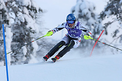 17.11.2013, Levi Black, Levi, FIN, FIS Ski Alpin Weltcup, Levi, Slalom, Herren, 1. Durchgang, im Bild Benjamin Raich (AUT) // Benjamin Raich of Austria in action during 1st run of mens Slalom of FIS ski alpine world cup at the Levi Black course in Levi, Finland on 2013/11/17. EXPA Pictures © 2013, PhotoCredit: EXPA/ Gunn/ Takusagawa<br /> <br /> *****ATTENTION - OUT of GBR*****