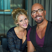 NLD/Amsterdam/20130916 -  Modeshow Jos Raak in het Conservatorium hotel, Liza Sips en Maik de Boer