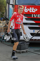 July 4, 2018 - Mouilleron Le Captif, France - MOUILLERON-LE-CAPTIF, FRANCE - JULY 4 : DE BUYST Jasper  (BEL)  of Lotto Soudal during a team reconnaissance of stage 1 prior the 105th edition of the 2018 Tour de France cycling race, a stage of 201 kms between Noirmoutier-en-l'Ile and Mouilleron-Le-Captif on July 04, 2018 in Mouilleron-Le-Captif, France, 4/07/18 (Credit Image: © Panoramic via ZUMA Press)