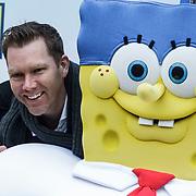 NLD/Amsterdam/20150125 - Premiere Spongebob in 3D - Sponge op het Droge, Sipke Jan Bousema en Spongebob