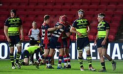 Bristol celebrate Rhodri Williams of Bristol Rugby try  - Mandatory by-line: Alex Davidson/JMP - 08/12/2017 - RUGBY - Ashton Gate Stadium - Bristol, England - Bristol Rugby v Leinster 'A' - B&I Cup