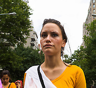 New York Hare krishna  parade . on fifth avenue. - United states