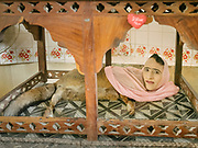 For over 40 years this Barnum Circus-inspired half-fox, half-woman has been telling fortunes from her cage in the old Zoo in Karachi.