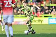Forest Green Rovers Liam Kitching(20) runs forward during the EFL Sky Bet League 2 match between Forest Green Rovers and Salford City at the New Lawn, Forest Green, United Kingdom on 18 January 2020.
