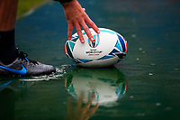 Rugby Union - 2019 Rugby World Cup - South Africa Training Captain's Run pre-Semi-Final <br /> <br /> Willie Le Roux of South Africa takes a ball out of a puddle at International Stadium Yokohama, Kanagawa Prefecture, Yokohama City.<br /> <br /> COLORSPORT/LYNNE CAMERON
