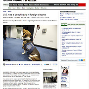 """Screen grab of """"US security at Shannon Airport"""" published in The Star Tribune"""