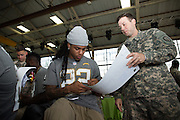 January 27 2016: San Diego Chargers Jason Verrett signs an autograph during the Pro Bowl Draft at Wheeler Army Base on Oahu, HI. (Photo by Aric Becker/Icon Sportswire)
