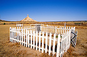 Pioneer graves in the Chimney Rock Cemetery on the Oregon Trail, Chimney Rock National Historic Site, Nebraska USA