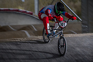 #707 (KOMAROV Evgeny) RUS at the 2018 UCI BMX Superscross World Cup in Saint-Quentin-En-Yvelines, France.