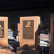Monument Park, an open-air museum located at the new Yankee Stadium containing a collection of monuments, plaques, and retired numbers honoring distinguished members of the New York Yankees. New York, USA. Photo Tim Clayton