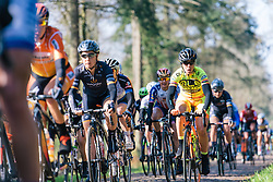 Marta Bastianelli bounces across the cobbles - Ronde van Drenthe 2016, a 138km road race starting and finishing in Hoogeveen, on March 12, 2016 in Drenthe, Netherlands.
