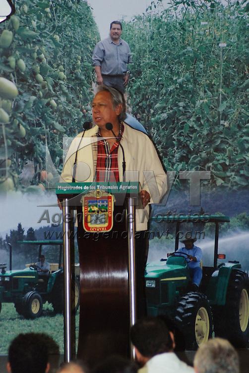 Toluca, Mex.- Ricardo García Villalobos, presidente del Tribunal Superior Agrario, durante los trabajos de la VI Reunión Nacional de Magistrados de los Tribunales Agrarios. Agencia MVT / José Hernández. (DIGITAL)<br /> <br /> <br /> <br /> NO ARCHIVAR - NO ARCHIVE