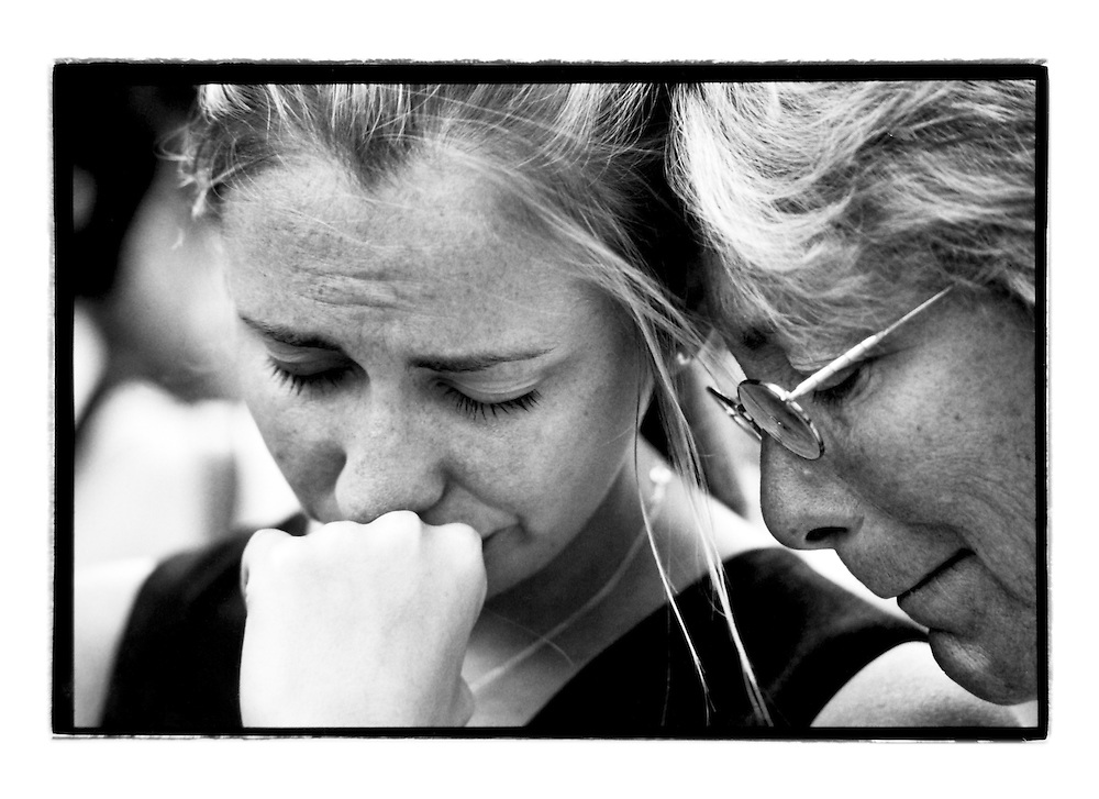 Still standing in the crowd I heard sobbing behind me. I looked over my shoulder and I saw a mom and daughter mourning over a loved one. I turned around and respectfully fired of 2 shots.