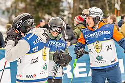 25.01.2020, Streif, Kitzbühel, AUT, FIS Weltcup Ski Alpin, im Rahmen der KitzCharityTrophy 2020 am Samstag, 25. Jänner 2020, auf der Streif in Kitzbühel. // f.l. Alec Garrett Ken Garret Leo Stock during the KitzCharityTrophy 2020 at the Streif in Kitzbühel, Austria on 2020/01/25, im Bild v.l. Alec Garrett, Ken Garret, Leo Stock // f.l. Alec Garrett Ken Garret Leo Stock during the KitzCharityTrophy 2020 at the Streif in Kitzbühel, Austria on 2020/01/25. EXPA Pictures © 2020, PhotoCredit: EXPA/ Stefan Adelsberger