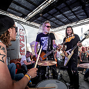 2019 06 08 Norje <br /> Sweden Rock Festival<br /> Mustasch<br /> David Johannesson. Guitar<br /> Stam Johansson Bass guitar<br /> Robban Bäck Drums<br /> <br /> <br /> FOTO : JOACHIM NYWALL KOD 0708840825_1<br /> COPYRIGHT JOACHIM NYWALL<br /> <br /> ***BETALBILD***<br /> Redovisas till <br /> NYWALL MEDIA AB<br /> Strandgatan 30<br /> 461 31 Trollhättan<br /> Prislista enl BLF , om inget annat avtalas.