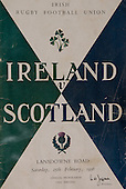 Rugby 1956-25/02 Five Nations Ireland Vs Scotland