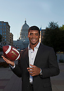Wisconsin quarterback Russell Wilson. (Photo © Andy Manis)