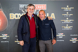 Tadija Kačar and Dejan Zavec pose during Official weighting ceremony one day before Dejan Zavec Boxing Gala event in Laško, on April 20, 2017 in Thermana Lasko, Slovenia. Photo by Vid Ponikvar / Sportida